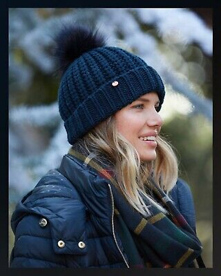 £13.95 • Buy JOULES New - Trina Cable Knit Bobble Hat - French Navy - New - Sealed - Last One