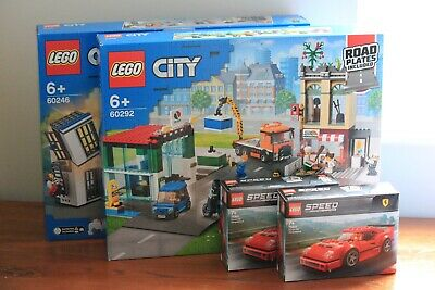 £41 • Buy LEGO CITY BUNDLE - TOWN CENTRE, POLICE STATION AND 2x FERRARI F40s | BRAND NEW