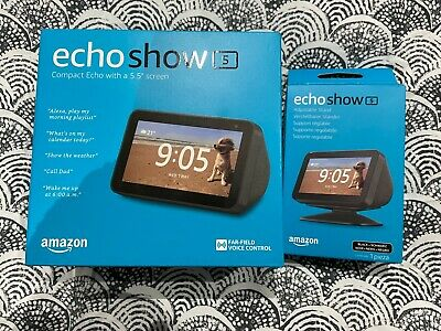 AU99 • Buy Echo Show 5 – Smart Display With Alexa - Charcoal Fabric & Stand NEW & SEALED
