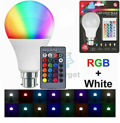 £7.95 • Buy 🔥Colour Changing LED Light Bulb B22 Remote Control RGB Party Disco Mood Lamp UK