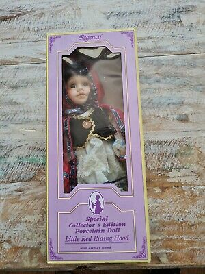 £14.99 • Buy Regency Little Red Riding Hood Porcelain Doll Collector Edition Boxed