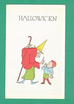 $ CDN54.45 • Buy Vintage Pink Of Perfection Halloween Postcard Witch Stops Frightened Boy