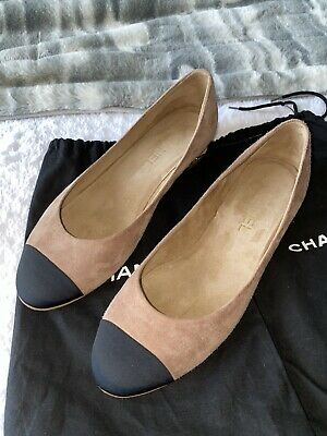 £425 • Buy NEW Chanel Suede Leather Ballerina Flat Shoes 39.5, Best Fits 38.5