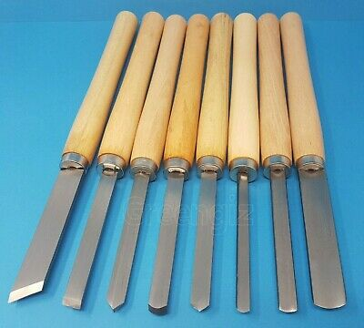 £24.99 • Buy 8pc WOOD TURNING CHISEL SET FOR LATHE CHISELS TOOLS CARVING TURNERS WOODWORKING