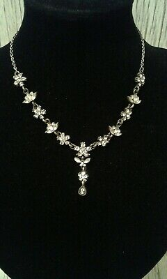 £2.99 • Buy Statement Faux Crystal Stone Set Pretty Necklace Party Bridal Jewellery Classic