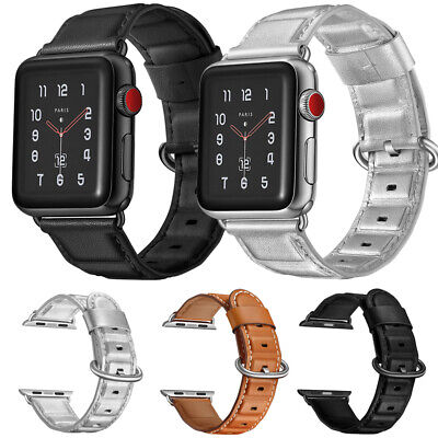 $ CDN17.24 • Buy 38/40/42mm Genuine Leather Apple Watch Band Strap For IWatch Series 6 5 4 3 2 SE