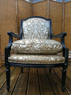 £380 • Buy A Superb French Louis XVI Style Lacquered Vintage Armchair Bergere
