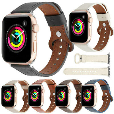 $ CDN11.19 • Buy 42/44MM IWatch Leather Band Strap Wrist For Apple Watch SE 6 5 4 3 2 1 38/40MM