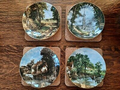 £19.95 • Buy CROWN STAFFORDSHIRE Full Set Of 4 John Constable Series Collector Plates Ex Cond