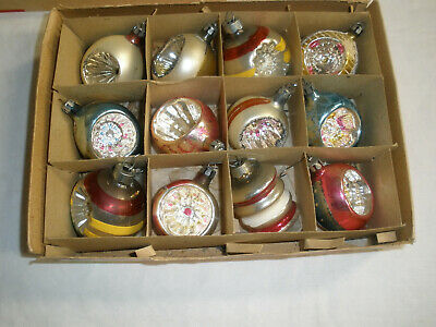 $ CDN30.19 • Buy Lot Of 12 Vintage Glass Christmas Ornaments - 11 Are Indents