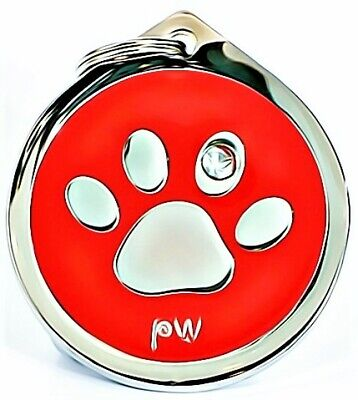 £6.99 • Buy Personalised Paw ID Pet Tags Engraved Dog Cat Charm Medal Name Collar ID Disc