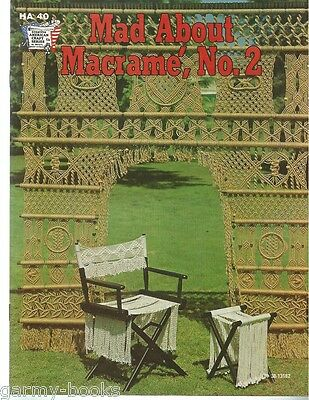 $11.48 • Buy Mad About Macrame Vol. 2 Vintage Pattern Instruction Book NEW 1975