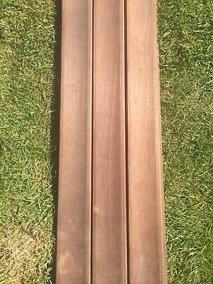 £15 • Buy 3 X 107cms Solid Mahogany Curved Tongue & Groove Planks/Boards/Timber/Cladding