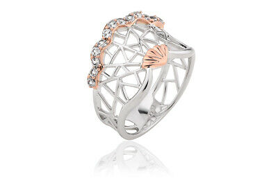 £59 • Buy NEW Welsh Clogau Silver & Rose Gold White Peacock Ring £100 OFF! SIZE N