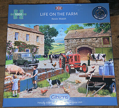 £10 • Buy Gibsons Life On The Farm 1000 Piece Jigsaw Puzzle Kevin Walsh G6304 Complete