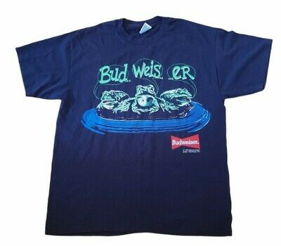 $ CDN56 • Buy Budweiser Frogs T-shirt Vintage Single Stitch Size L Your Pad Or Mine 1995