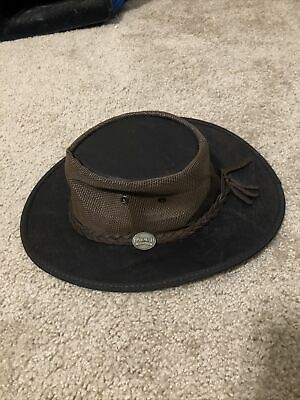 $ CDN30.30 • Buy Men's Barmah Brown Leather Squashy 1038 Outback Hat S Made In Australia