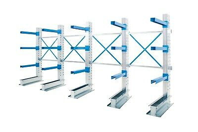 £2411.77 • Buy Single Sided Cantilever Warehouse Racking - 4 Running Bays