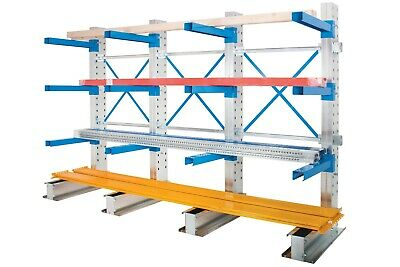£2045.16 • Buy Single Sided Cantilever Warehouse Racking - Run Of 3 Bays