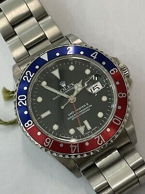 $ CDN17741.95 • Buy Rolex 16710 GMT Master II Pepsi In Excellent Condition With Paper (849)