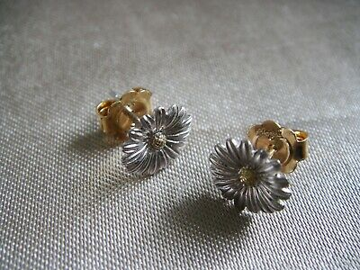 £150 • Buy Clogau White And Yellow 9ct Welsh Gold Daisy Studs Earrings