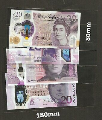 £1.99 • Buy High Quality Acid Free  Banknote Sleeves 80mm X 180mm =  25 Pieces Brand New