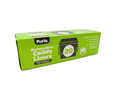 £7.99 • Buy 15 Litre Purio Compostable Biodegradable Food Waste Caddy Bin Liner Bags 15L