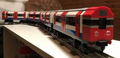£199.99 • Buy Lego London Underground Tube Train 4 Carriages Compatible With 12v & 9v Track