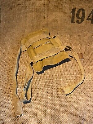£30 • Buy WW2 US Parachute First Aid Packet For Airborne Helmet Aged Reproduction