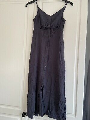£11 • Buy Topshop Cami Dress Size 12 Purple Crossover Ties At Front