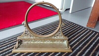 £54.99 • Buy Antique Victorian Brass Gong Stand 1869 W, T & S (William Tonks & Sons) RARE
