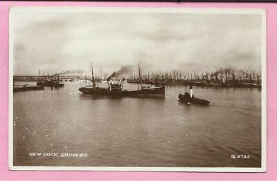 £4.49 • Buy New Dock, Grimsby, Lincolnshire Postcard. Real Photo. Valentines.