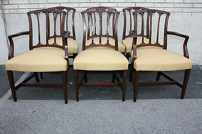 $2875 • Buy Great Set Of Six English Regency American Made Mahogany Dining Room Chairs
