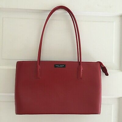 $ CDN42.63 • Buy Kate Spade New York Red Leather Purse Tote Hand Bag Buy It Now