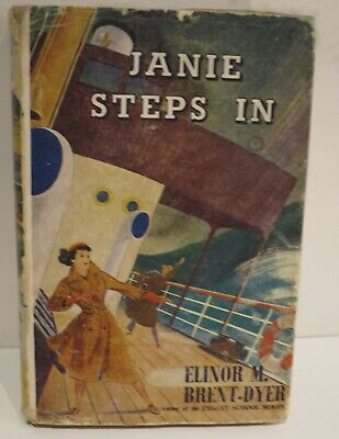 £63 • Buy Janie Steps In By Elinor Brent Dyer, Chalet School Book, With Wrapper