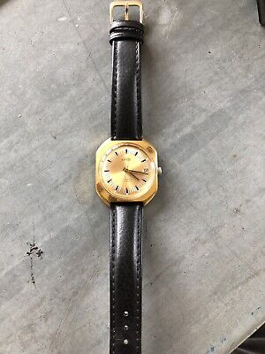 £59 • Buy Vintage Mens Wrist Watch Uno Gold  Colour Face/case Automatic Working Order