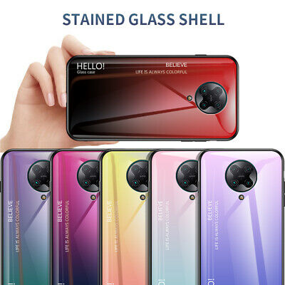 AU5.56 • Buy For Xiaomi Poco F2 Pro Luxury Slim Tempered Glass Gradient Soft Frame Cover Case