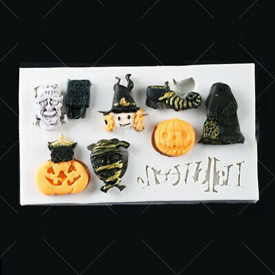 £2.99 • Buy Pumpkin Witch Silicone Fondant Mould Cake Sugarcraft Ghost Baking Chocolate Mold