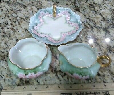 $49.99 • Buy Antique Hand Painted Roses M.Z. Austria And Moliers Germany Sugar Creamer Nappy