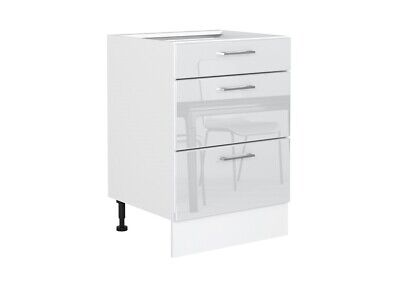 £189.95 • Buy White Gloss Kitchen Unit Cabinet Cupboard 60cm 600mm Drawer Pack Soft Close Rosi