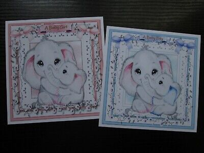 £1.25 • Buy NEW ===  2 X Gorgeous Little Baby Girl / Baby Boy Card Toppers
