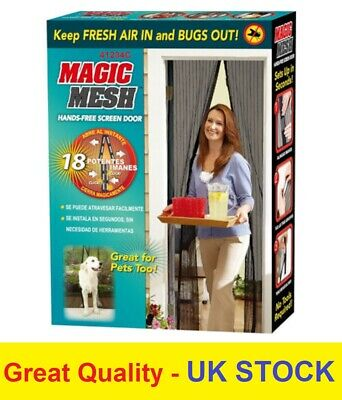 £5.99 • Buy MAGIC Mesh Magnetic Curtain Hands Free Net Screen Fly Mosquito Insects Bugs Door