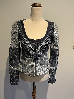 AU59 • Buy Ladies Tigerlily Cropped Jacket Size 10 Quilted Long Sleeve