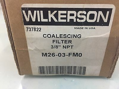 $175 • Buy Wilkerson M26-03-FM0 Coalescing Oil Removal Air Filter 3/8  NPT Automatic Drain