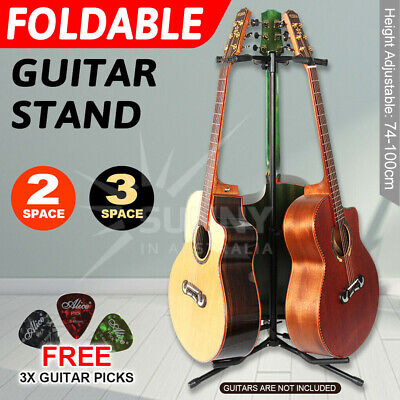 AU32.99 • Buy Folding Guitar Stand Bass Tripod Electric Acoustic Floor Holder Rack For 2/ 3
