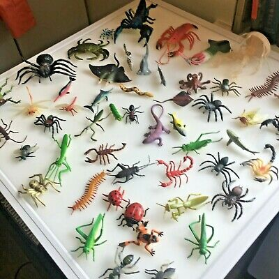 £39.99 • Buy 50 Pcs Plastic Insect Bugs Fish Etc Model Action Figure Kids Toys Gifts