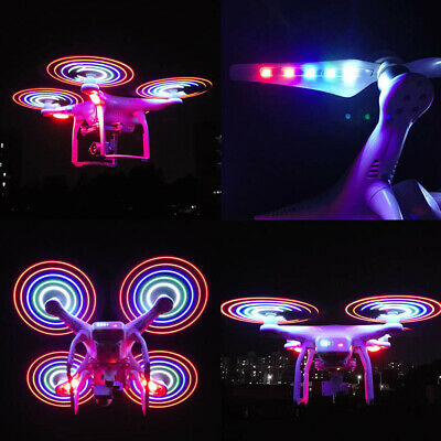 AU23.51 • Buy 2pcs White Propellers For DJI Phantom 3 With LED Light Drone Accessories