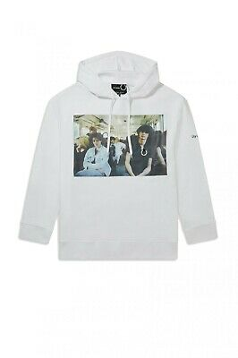 £65 • Buy Fred Perry RAF SIMONS Chest Print Hooded Sweatshirt - Size: Small