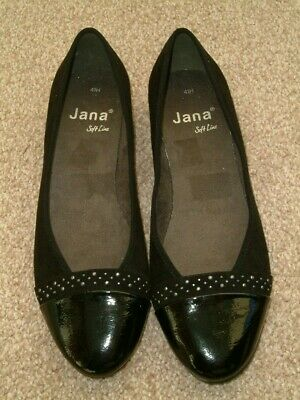 £11.50 • Buy Jana Soft Line UK7.5 Ladies Patent & Suede Black Shoes. Worn Once. Exc Cond