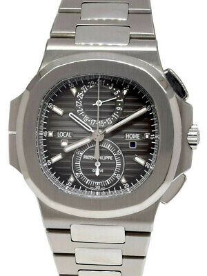 £89234.75 • Buy Patek Philippe Nautilus Travel Time Chronograph Steel Watch Box/Papers 5990/1A